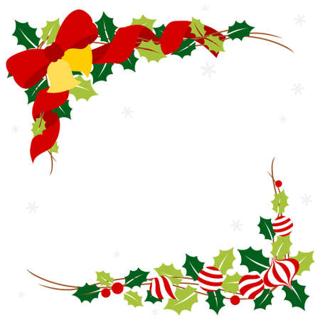 Christmas garland with ornament - colorful