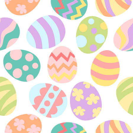 Easter egg seamless pattern - pastel color Illustration