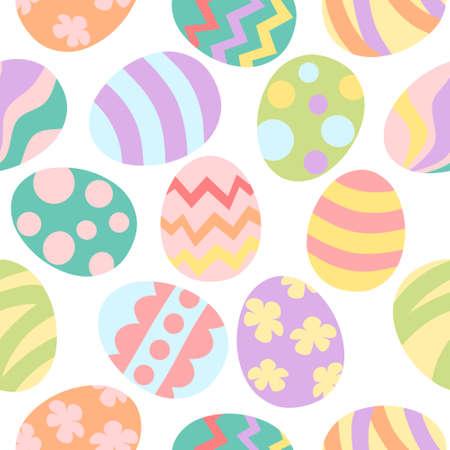 Easter egg seamless pattern - pastel color Illustration