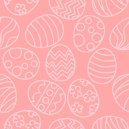 Easter egg seamless pattern - pink background