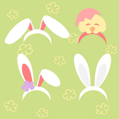 Bunny ear and chick hair band - party accessories