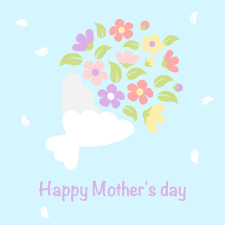 Bouquet of flower - mother day card