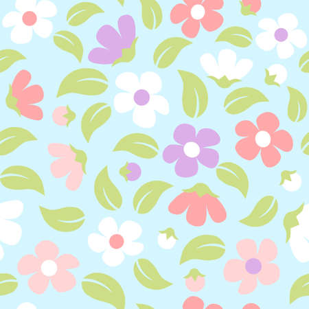 Seamless floral background - pastel color