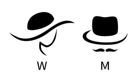 Toilet sign - male and female Illustration