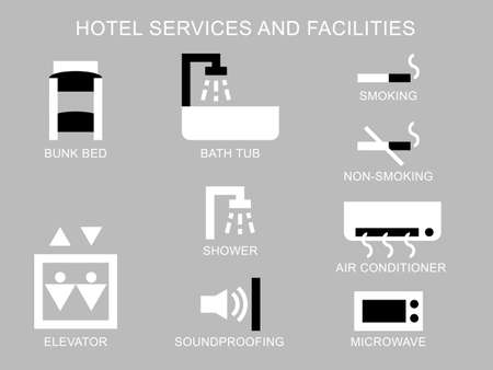 Hotel services and facilities icon