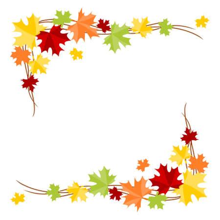 Autumn leaves border - corner