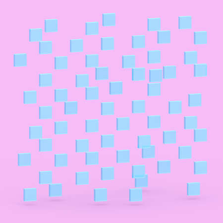 Square 3D generated  background - pastel color