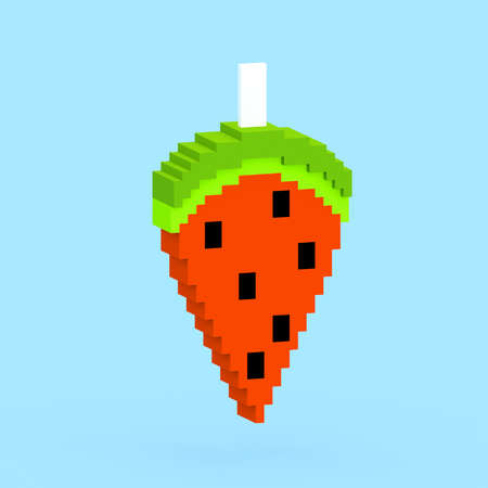 Watermelon popsicle 3D generated - colorful Stock Photo