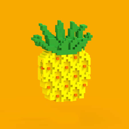 Pineapple 3D generated - colorful