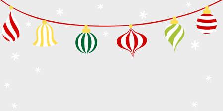 Christmas ornament ball bunting - Christmas holiday Illustration