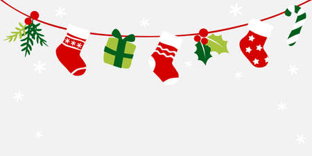 Christmas stockings bunting - colorful