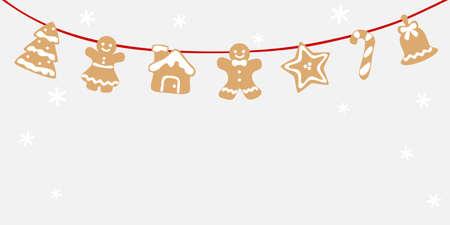 Christmas gingerbread  bunting