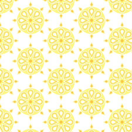 Seamless vector repeat ethnic mandala pattern on a white background
