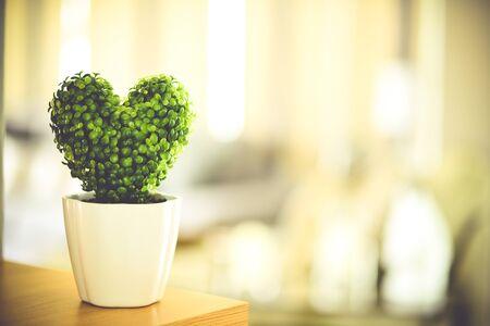 horizon over land: Heart-shaped tree