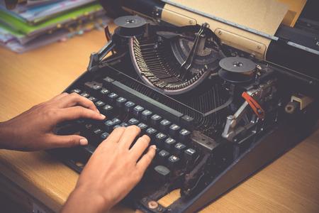 typewriter Standard-Bild