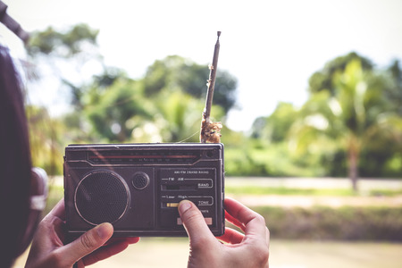 retro radio: old radio Stock Photo