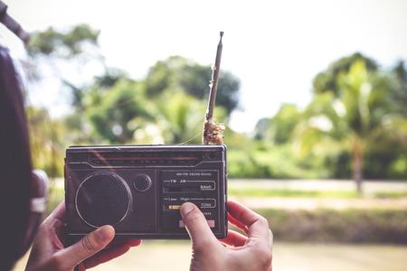 oude radio Stockfoto
