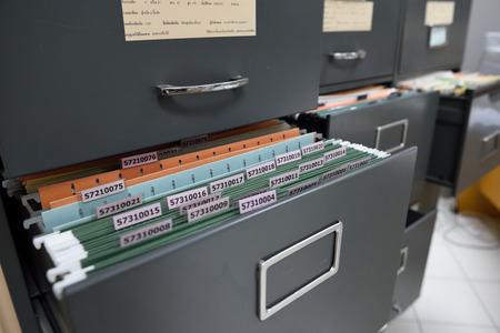 File folders in a filing cabinet,For document storage Standard-Bild