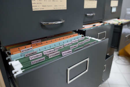 File folders in a filing cabinet,For document storage Imagens