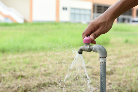 faucets: Faucets for watering,And other uses Stock Photo