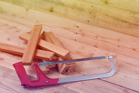 sawing: sawing machines Placed on a wooden .