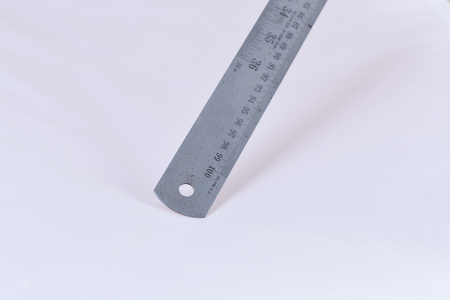 metric: Metric steel ruler, isolated on white.