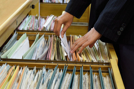 file folder: Archive files,office document in load. Stock Photo
