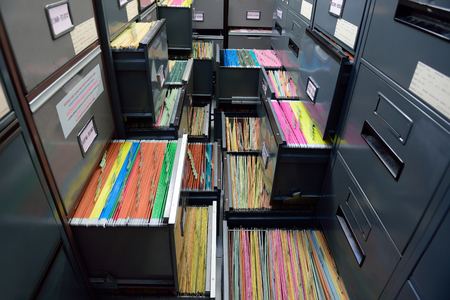 Archive files,office document in load. Stock Photo