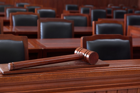 criminal lawyer: courtroom,The model for law schools. Stock Photo