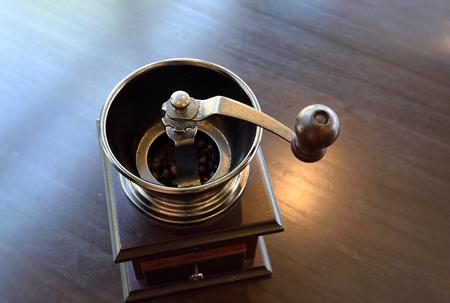 molinillo: Coffee Grinder, la fotografía de cerca.