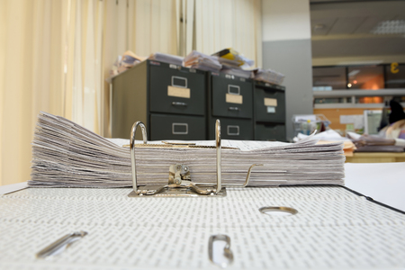 a file folder with documents and important document