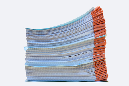 a file folder with documents and important document,isolated Background Archivio Fotografico