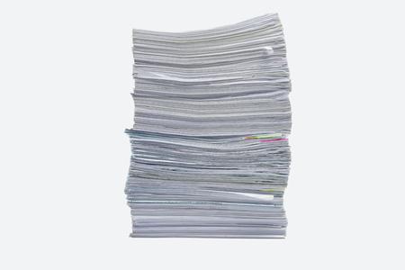 documentos legales: una carpeta con documentos y documento importante, el fondo aislado Foto de archivo