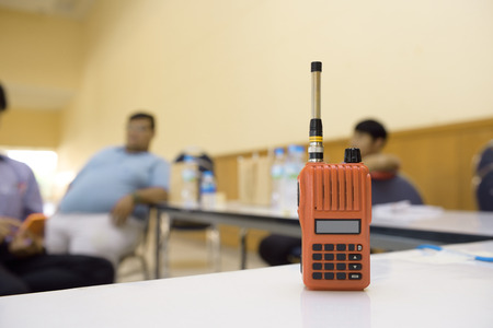 cb phone: Radio phone,Used for Communication within the organization in the near term. Stock Photo