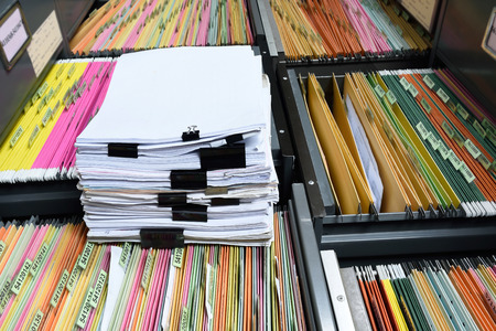 a file folder with documents and important documents