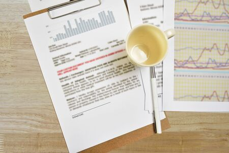 indexed: For signing documents Place on a desk in the background.