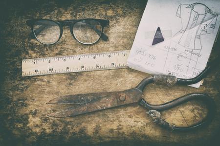 bespoke: Tailors,Designed for fashion garment. Stock Photo