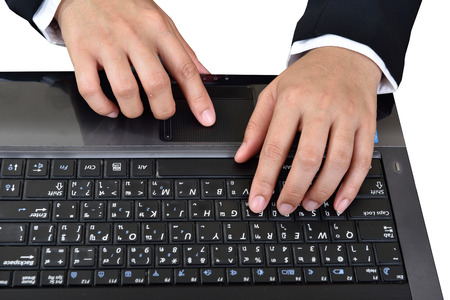 data entry: data entry,Businessmen are key data into the computer. Stock Photo