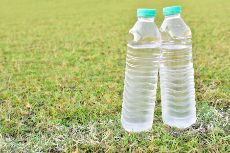 water bottles: Water Bottles,Placed on the lawn