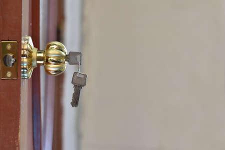 door knob: door knob in home Stock Photo