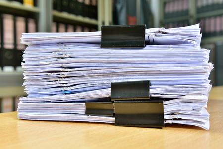Office-documenten, het document geplaatst op het bureau in het kantoor. Stockfoto