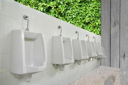 latrine: outdoor urinals men public toilet for men Stock Photo