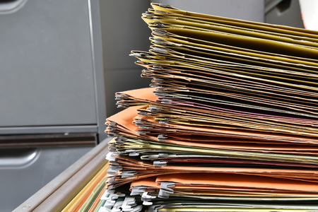 messy file cabinet. Stack Of Documents Put The Filing Cabinet Photo Messy File
