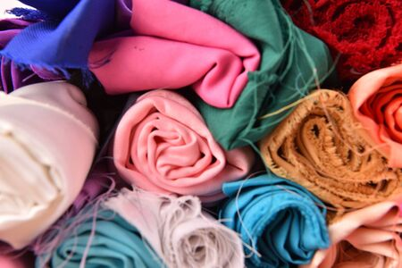 clothing store: fabric colourful
