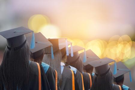Congratulated the graduates in University,Concept education congratulation