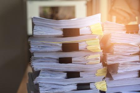 Stack Document file pace on Cabinet in office. Reklamní fotografie