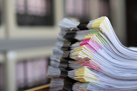 Important documents placed on a desk in the office. Stockfoto