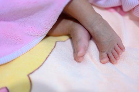 Newborn babys feet