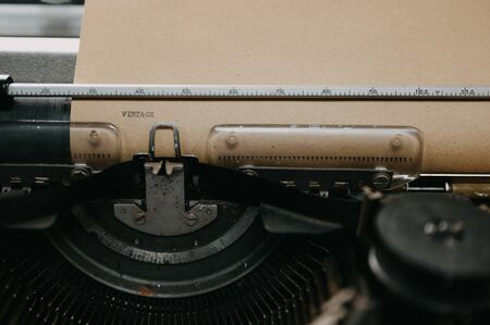 Old black typewriter Type