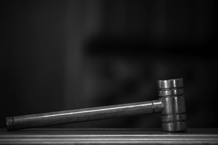 Wooden Hammer for Adjudge Judicial of Lawyer In the courtroom